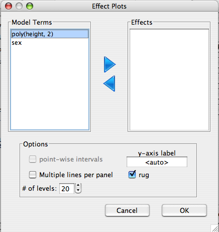 Deducer: A GUI for R - Effect Plots